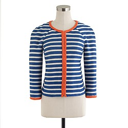 Rope-trim stripe jacket