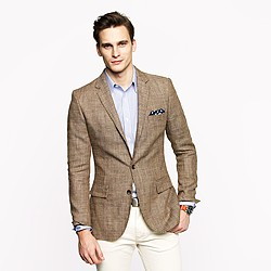 Ludlow sportcoat in glen plaid Italian silk-linen