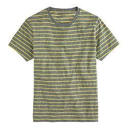 Broken-in pocket tee in citrus stripe