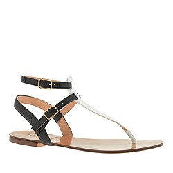 Tabbie colorblock T-strap sandals