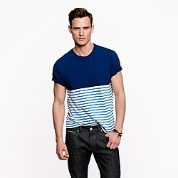 Slub tee in ocean stripe