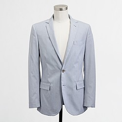 Factory Thompson two-button suit jacket with center vent in corded cotton