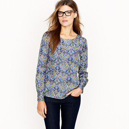 Talitha top in peacock paisley   blouses   Womens shirts & tops   J