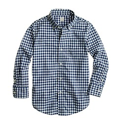 Boys' Secret Wash shirt in gingham