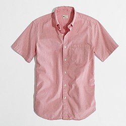 Factory short-sleeve oxford shirt