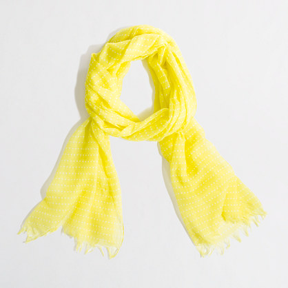 Factory printed eyelash scarf