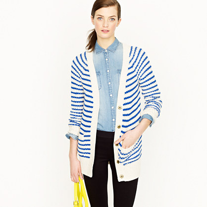 Ripplestitch cardigan in stripe
