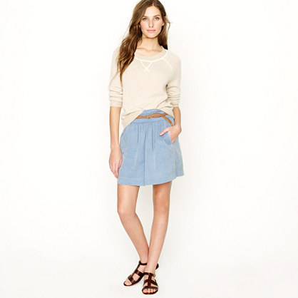 Chambray Clambake skirt - Mini - Women's skirts - J.Crew :  mini chambray clambake skirt womens skirts