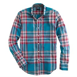 Indian cotton shirt in seacrest plaid