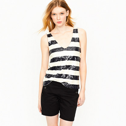 Stripe sequin tank