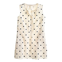 Girls eyelet dot sundress