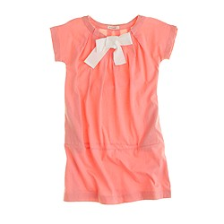 Girls' bow neck dress
