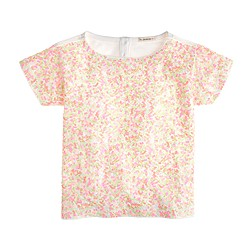 Girls' confetti sequin tee