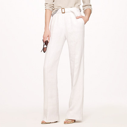 Hutton trench trouser in linen