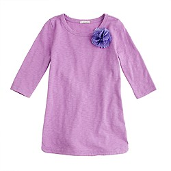 Girls' neon corsage tunic