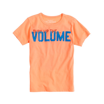 Boys' glow-in-the-dark turn up the volume tee