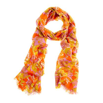 Printed washed scarf