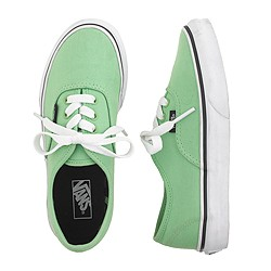 Kids' Vans® junior authentic solid sneakers
