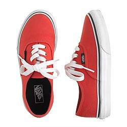 Kids' Vans® authentic solid sneakers