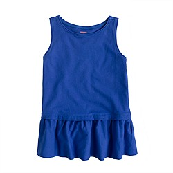 Girls' peplum tank