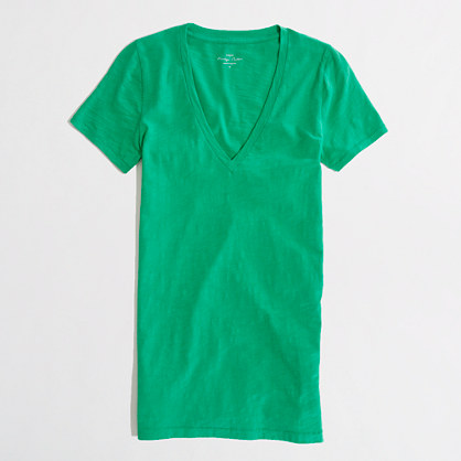 Factory layering v-neck tee