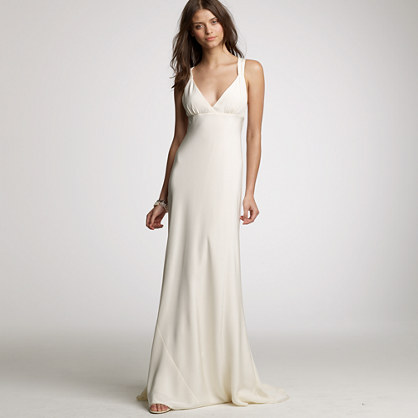 Avery gown in silk tricotine
