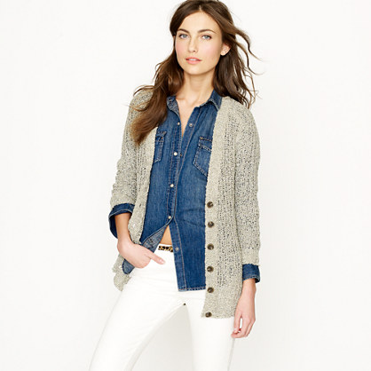 Metallic beach cardigan