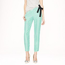 Collection washed silk side-tie pant