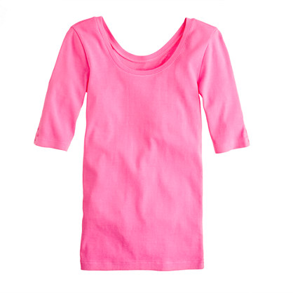 Perfect-fit ballet button tee