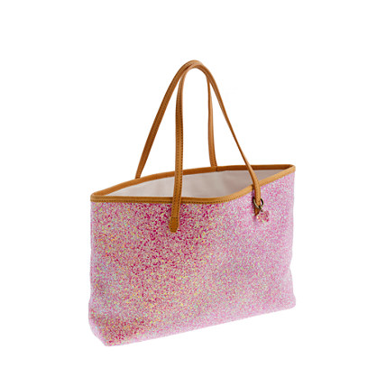 Girls' glitter tote bag