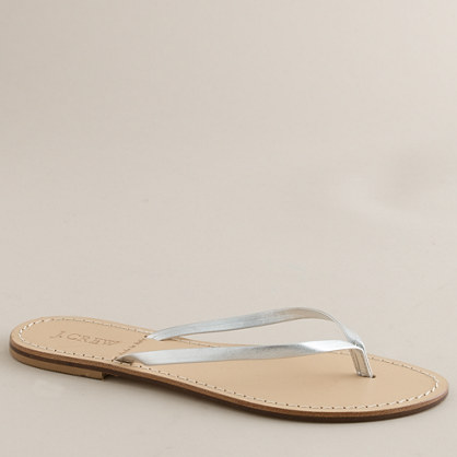 Leather capri sandals
