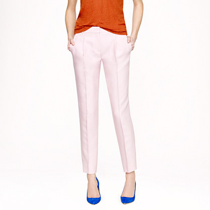 Collection pleated wool-silk pant