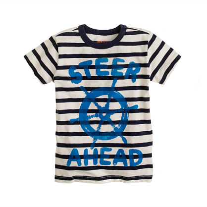 Boys' steer ahead stripe tee