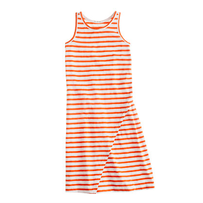 Girls' maxidress in boat stripe