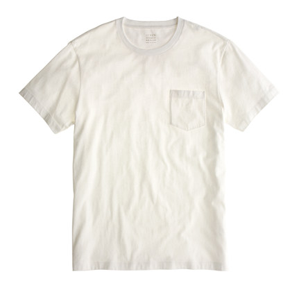 Broken-in pocket tee