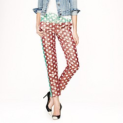 Collection gold leaf dotted jacquard pant