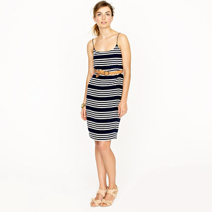 Blouson dress in stripe