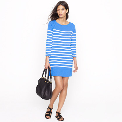 Maritime dress in skinny stripe