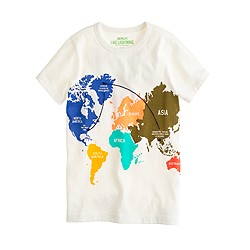 Boys' world map tee