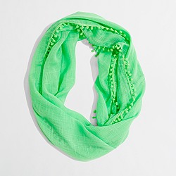Factory infinity scarf with bubble trim