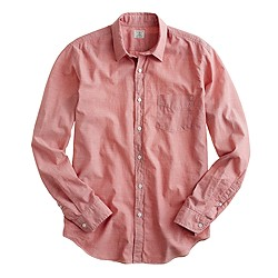 Slim lightweight chambray shirt