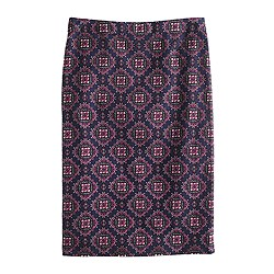 Petite No. 2 pencil skirt in medallion paisley