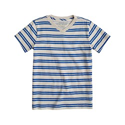 Boys' V-neck tee in blue stripe
