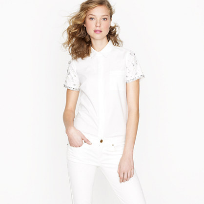 Collection embellished oxford shirt
