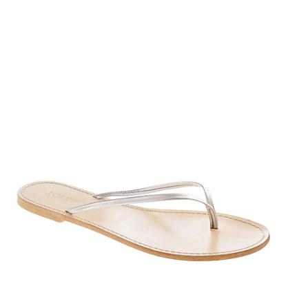 Leather capri sandals