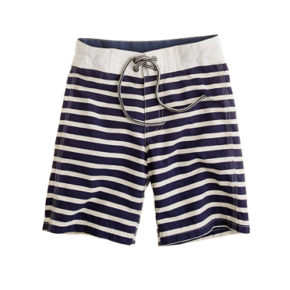Boys' board short in nautical stripe