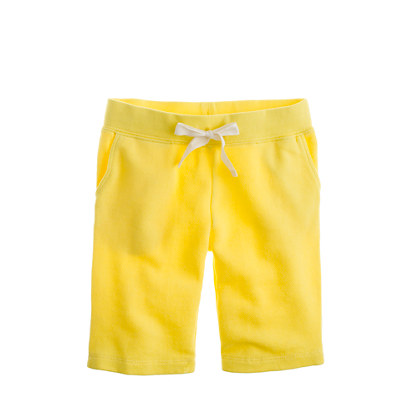 Girls' wafer terry bermuda short