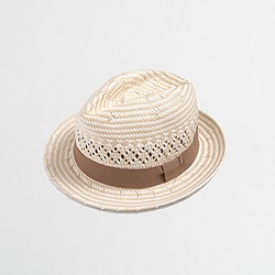 Factory ribbon fedora