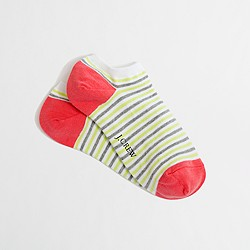 Factory stripe ankle socks
