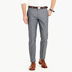 Ludlow slim suit pant in Japanese chambray